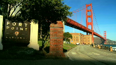 Below Golden Gate Bridge (slight movement) Stock Footage