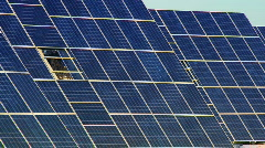 Photovoltaic Solar Panels - stock footage