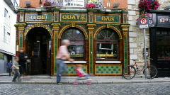The Quays bar in Temple Bar, Dublin, Ireland Stock Footage