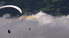 paraglider in a row - stock footage