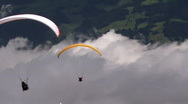 Paraglider in a row Stock Footage