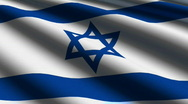 Israel Close-up Flag - HD - looping Stock Footage
