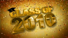 class of 2010 red hd - stock footage