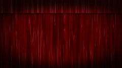 Red Velvet Curtains ZOOM - stock footage