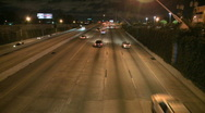 Evening traffic on a highway (2 of 4) Stock Footage