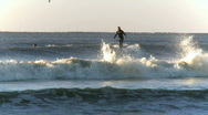 Stock Video Footage of Surfers in the early morning (5 of 6)