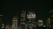 Stock Video Footage of Downtown Houston at night - pan