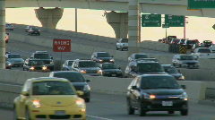 Late afternoon on a busy highway (1 of 5) - stock footage