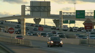 Stock Video Footage of Late afternoon on a busy highway (2 of 5)