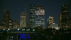 Downtown Houston Evening - medium shot - stock footage