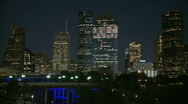 Stock Video Footage of Downtown Houston Evening - medium shot