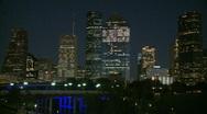 Stock Video Footage of Downtown Houston Evening - medium shot