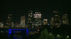 Downtown Houston at night - stock footage