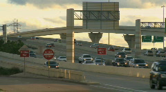 Stock Video Footage of Late afternoon on a busy highway (4 of 5)