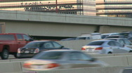 Rush hour traffic on builds on an interstate (3 of 5) Stock Footage