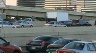 Rush hour traffic on builds on an interstate (5 of 5) Stock Footage
