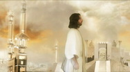 Jesus in Heaven Pan Out Stock Footage