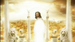 Jesus in Heaven's City Stock Footage