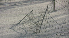 Fence in snow Stock Footage