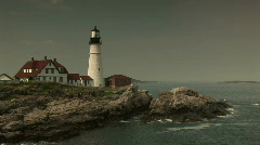 Portland Head Lighthouse in Maine Stock Footage