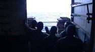 Men on US Navy ship  (HD) Stock Footage