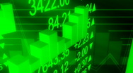 Stock Video Footage of Business Data in Green Loop