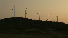 Wind Turbines Dusk West Texas Stock Footage