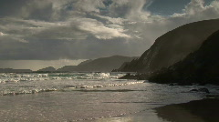 The rocky cliffs of Dingle Ireland Stock Footage