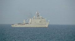 US Navy Ship at sea  (HD) Stock Footage