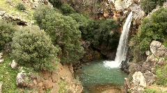 Saar Falls, Golan Hights, Israel Stock Footage