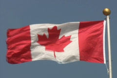 Canadian flag. Stock Footage