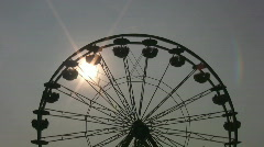 Ferris wheel silhouette.  Stock Footage