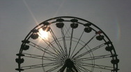 Stock Video Footage of Ferris wheel silhouette.