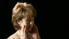 woman with headache - stock footage