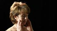 Woman with headache Stock Footage