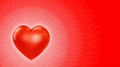 Valentine video card heart on red fhd loop Stock Footage