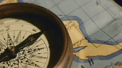 Stock Video Footage of old mariner's compass
