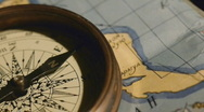 Old mariner's compass Stock Footage