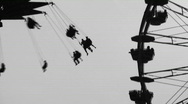 Fairground silhouettes. Two shots. Stock Footage