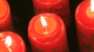 Heart shaped candles zoom out Stock Footage