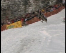 Wipe out on sledge, funny winter olympics.6 Stock Footage