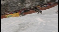 Stock Video Footage of wipe out on sledge, funny winter olympics.6