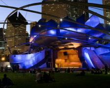 Chicago Millennium Park Jay Pritzker Pavilion PAL Stock Footage