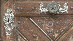 Old wooden door Stock Footage