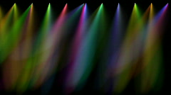 Multi coloured stage lights, loopable Stock Footage