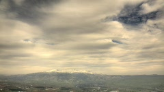 Clouds over Mount Hermon top view time lapse - stock footage