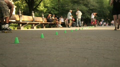 Roller Blading in Central Park NYC 2 Stock Footage