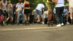 Roller Blading in Central Park NYC 6 Stock Footage