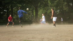 Central Park Soccer Stock Footage