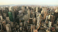 roof top view of New York City - stock footage